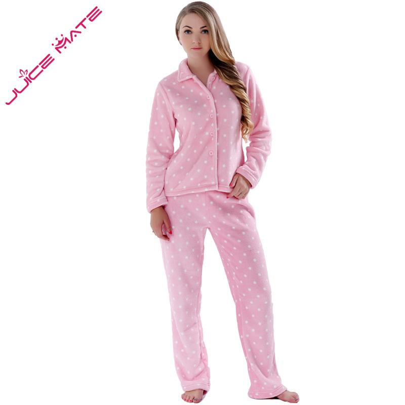 5f292ddc5 2019 Autumn Winter Warm Pyjamas Women Sleepwear Female Fleece ...