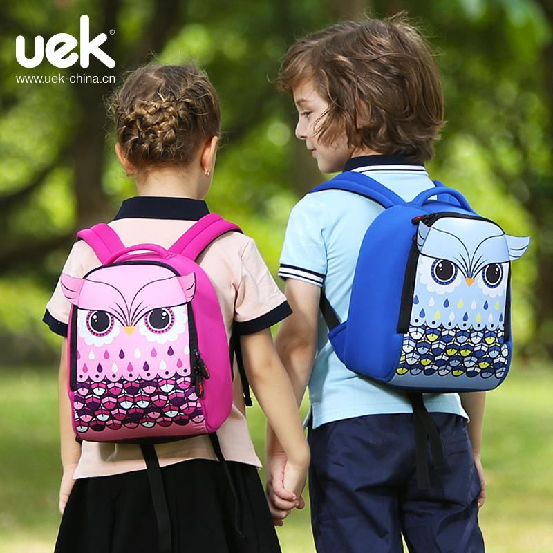 3b37b1f526cd UEK 3D Kids Shool Children s Schoolbags Cartoon Animals The Owl Girl Boy Children  Waterproof Lighter Cute Kids Backpack Baby Back Pack Cute Backpacks From ...
