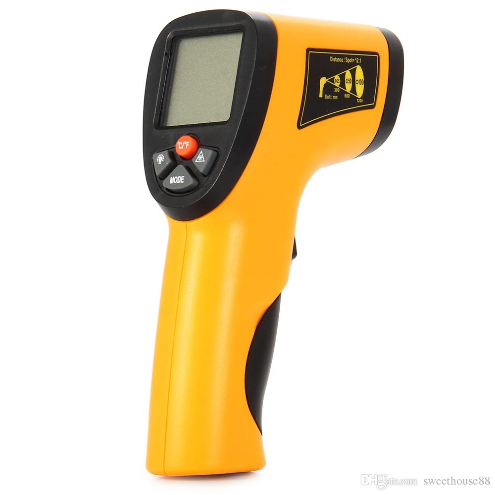 Infrared Thermometer Non-Contact IR Infrared Digital Temperature ...