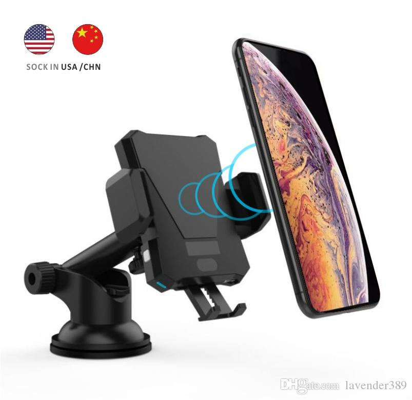 Infrared Induction Automatic Qi Wireless Charge Car Mount Air Vent