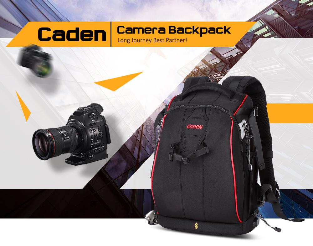 Caden K7 Camera Backpack With USB Charging Port For Laptop / Digital SLR For SLR DSLR Camera With Lens And Accessories
