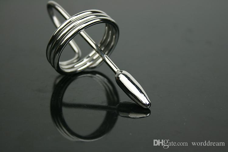 Male Penis Plug Stainless Steel Urethral Dilator Chastity Slave In Adult Games , Fetish Sex Products Toys For Men - Dia 8 mm
