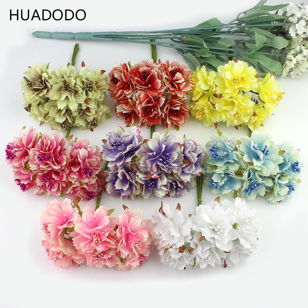2018 Huadodo 4cm Artificial Carnation Flowers Stamen Silk Flower ...