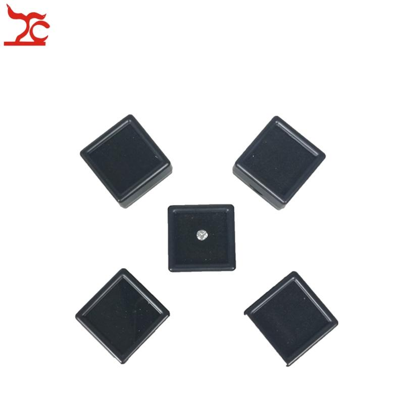 Plastic Loose Diamond Display Package Box Square Gem Stone Case Memory Foam Pad Diamond Storage Box 3*3*2cm