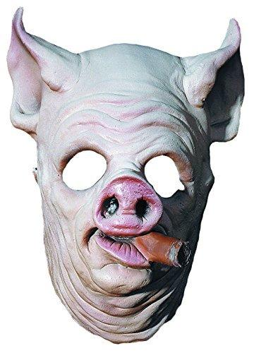 MostaShow Smoking Pig Head Latex Mask Actor's Full Headgear Easter Christmas Halloween Costumes Cosplay