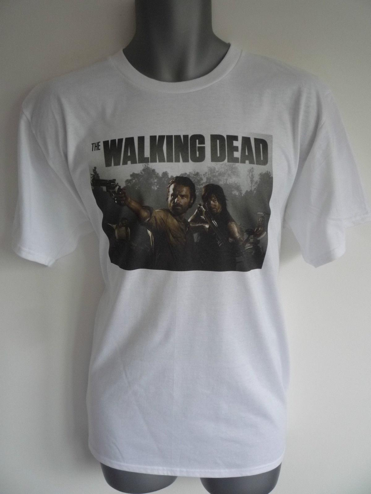 748614c8f4 THE WALKING DEAD T SHIRT DARYL RICK WALKERS ZOMBIES Brand 2018 Men'S  Lastest Printed Funny T Shirt Fashion Short Sleeve Buy Online T Shirts Make Tee  Shirts ...
