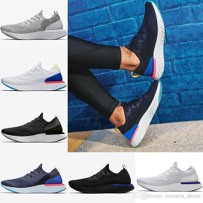 034c54cea2822a 2018 Top Epic React Mens Running Shoes Women Sneaker Triple Black White  Oreo Blue Cool Grey Men Casual Sports Sneakers Size 5.5-11 React Shoes  Running Shoes ...
