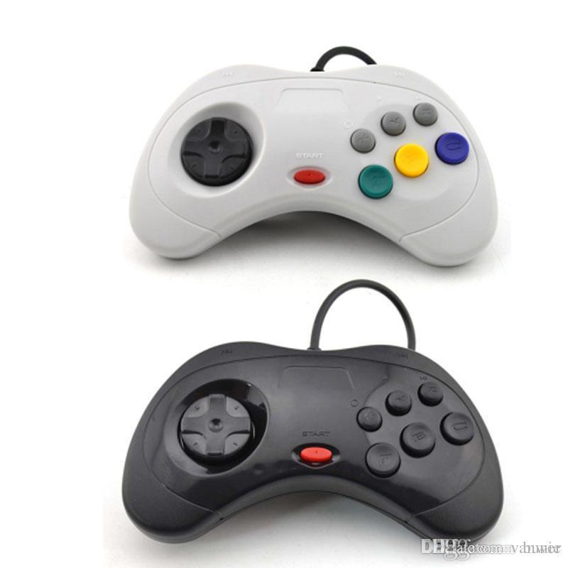 Compre Vigrand Negro Blanco Para Sega Saturn Controlador De Juegos