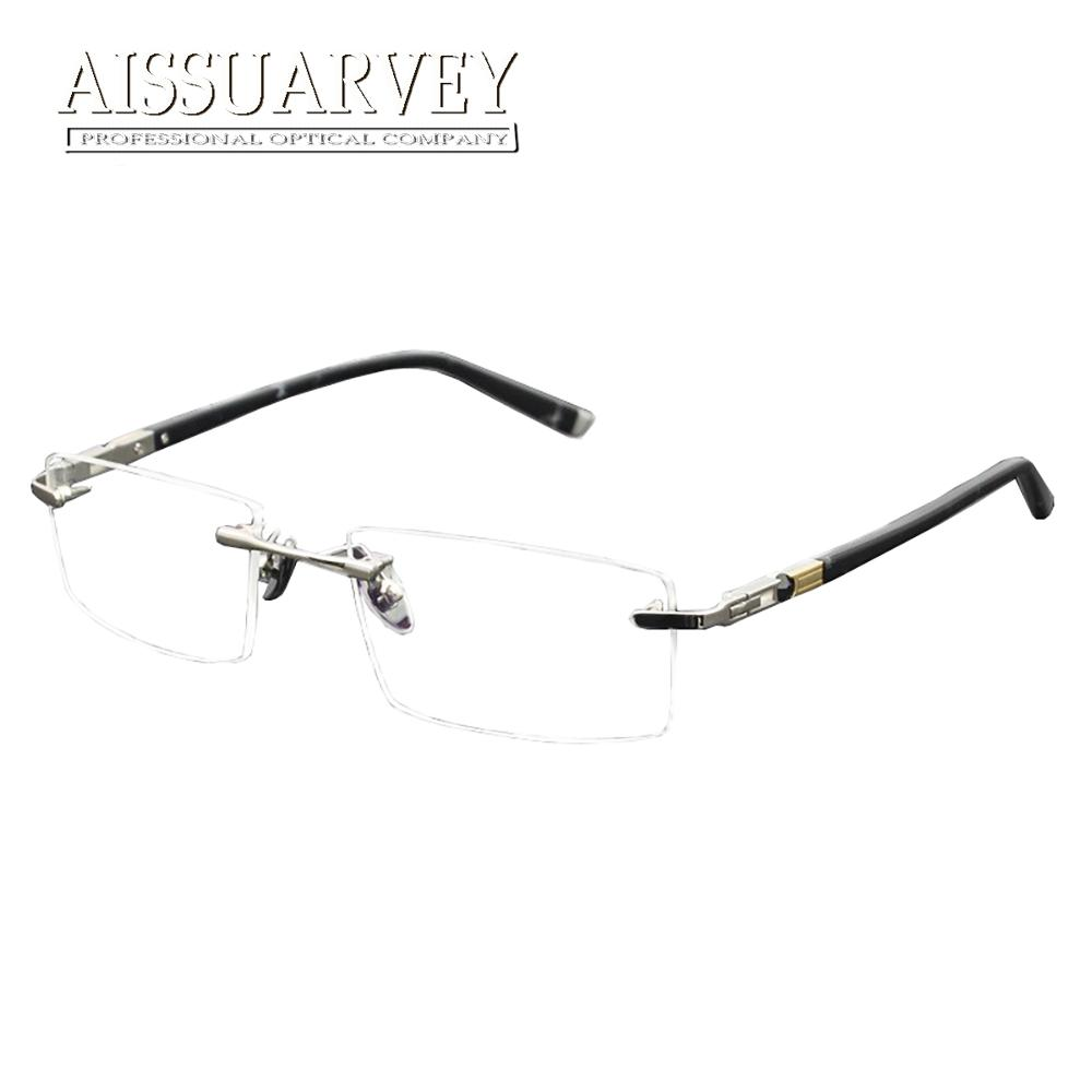 cc753b9ef4 2019 Men Glasses Frames Optical Rimless Titanium Alloy Metal Eyeglasses  Fashion Brand Designer Prescription Eyewear Goggles Classic From Value333