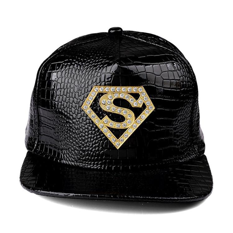 High Quality PU Leather Superman S Baseball Caps Gorras Top Quality ... fd2d24159050