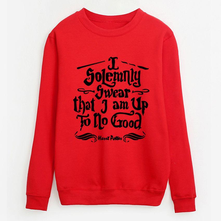 efdd2282d 2019 2018 Fall Winter Fleece Pullovers I Solemnly Swear That I Am Up To No  Good Sweatshirt Women O Neck Hoodies Top Hip Hop Tracksuit From Jingju, ...