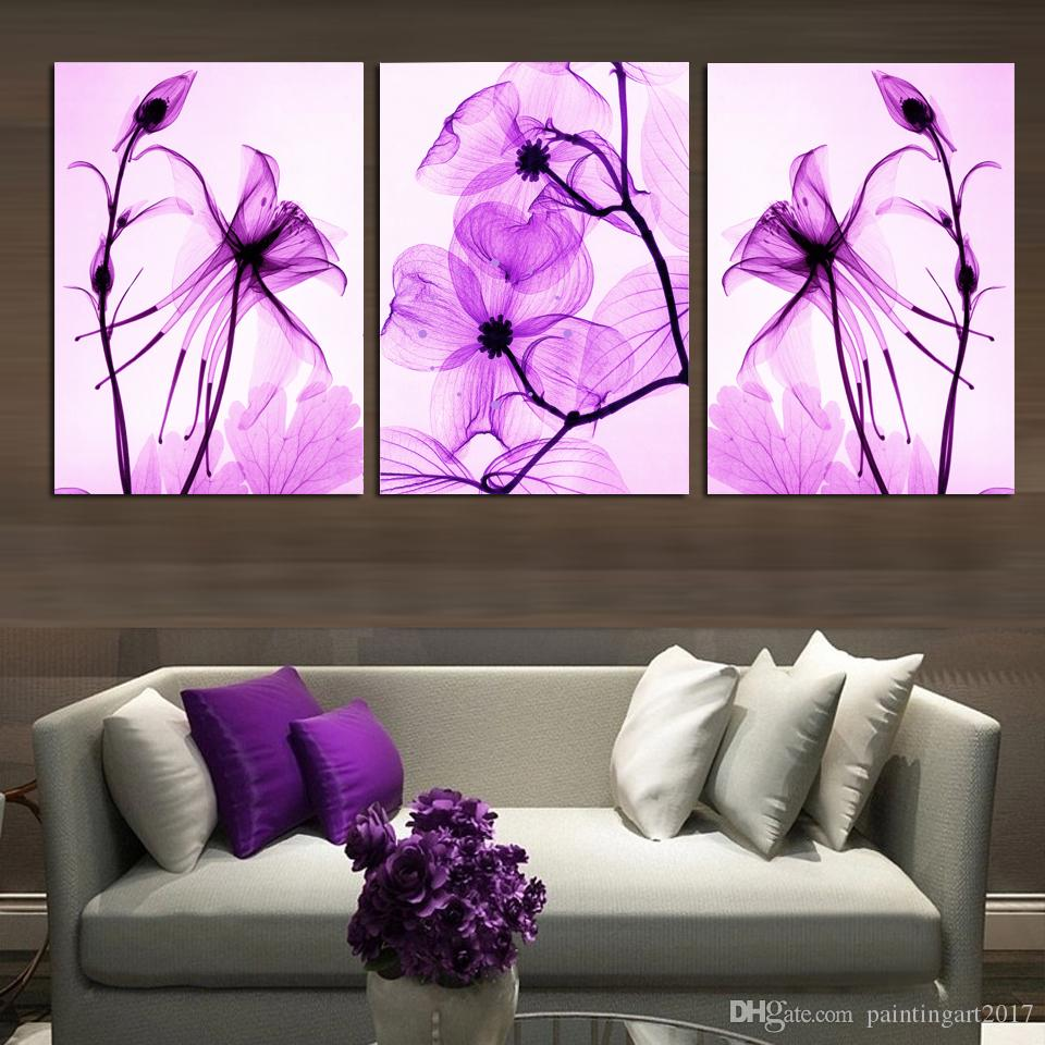 Modular HD Print Art Abstract Flowers 3 Pieces Home Decor New Arrive in 2018 Canvas painting On Wall For Living Room