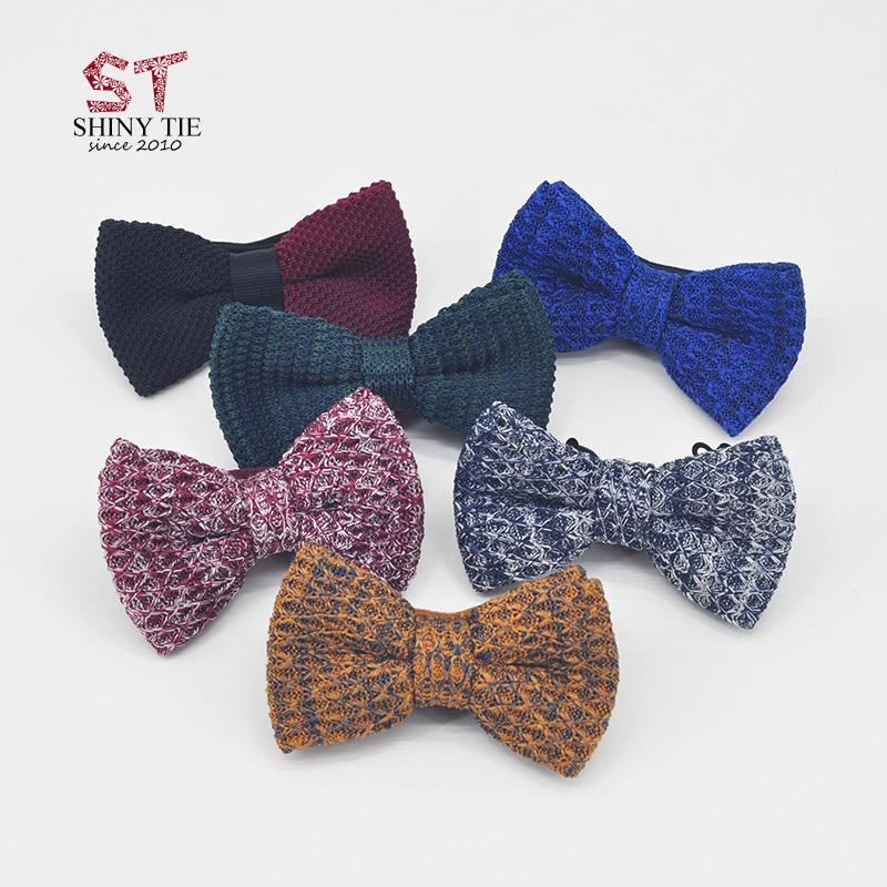 2018 2017 Fashion Knitted Bow Ties For Men Threads Cotton Butterfly