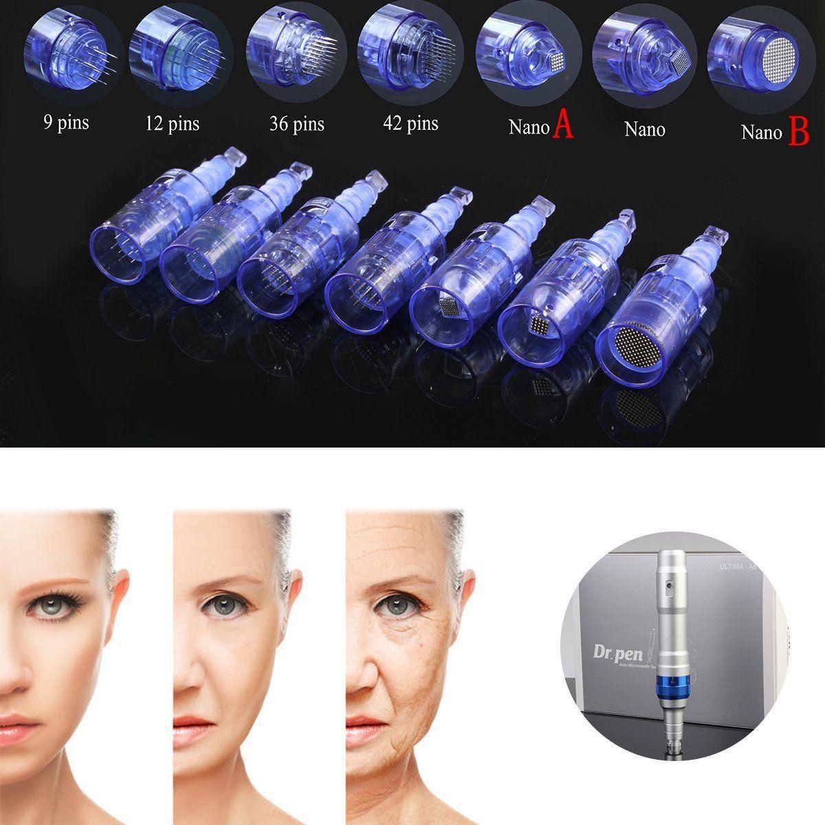1/3/5/7/ 9/12/36/42/Nano derma pen tips Rechargeable wireless Derma Dr. Pen ULTIMA A6 needle cartridge