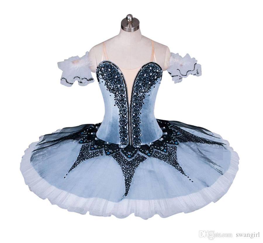 54b85564ef01 2019 Adult Professional Ballet Tutu Grey White Queen Classical Ballet Stage  Costume Nutcracker Performance Gray Platter Tutu BT9032 From Swangirl, ...