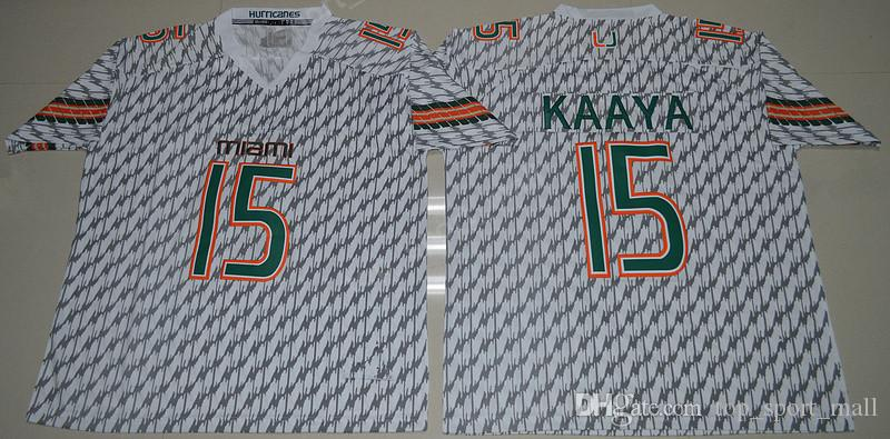 NCAA Miami Hurricanes 15 Brad Kaaya Trikots Herren College Football 20 Ed Reed 52 Ray Lewis Trikot Orange Grün Weiß 26 Sean Taylor