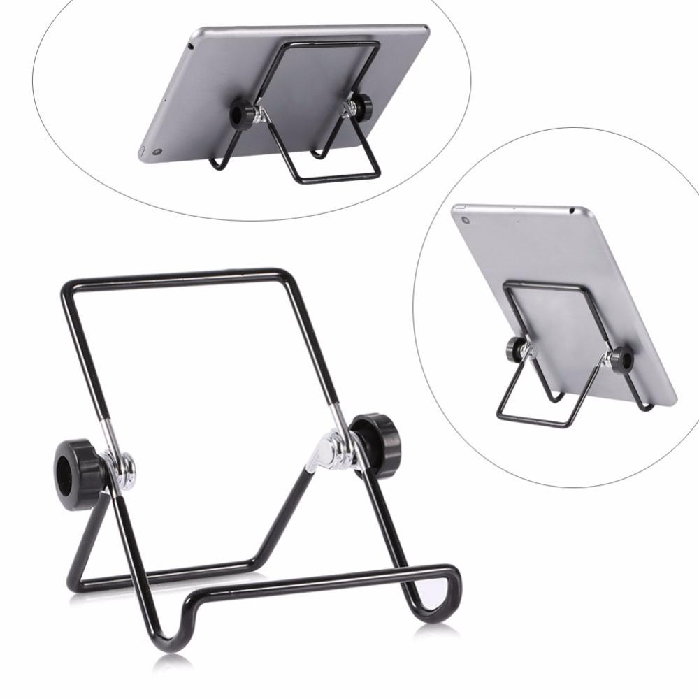 Multi-angle Adjustable Portable Foldable Metal Non-slip Stand Holder for iPad Tablet 2017 practical good quality
