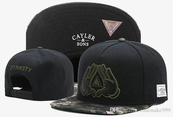 Hot Fashion Brand Nouveau Réglable Cayler Sons Bone HiPhop Snap Snapback Basketball Sport Basketball Casquettes Chapeaux pour hommes et femme