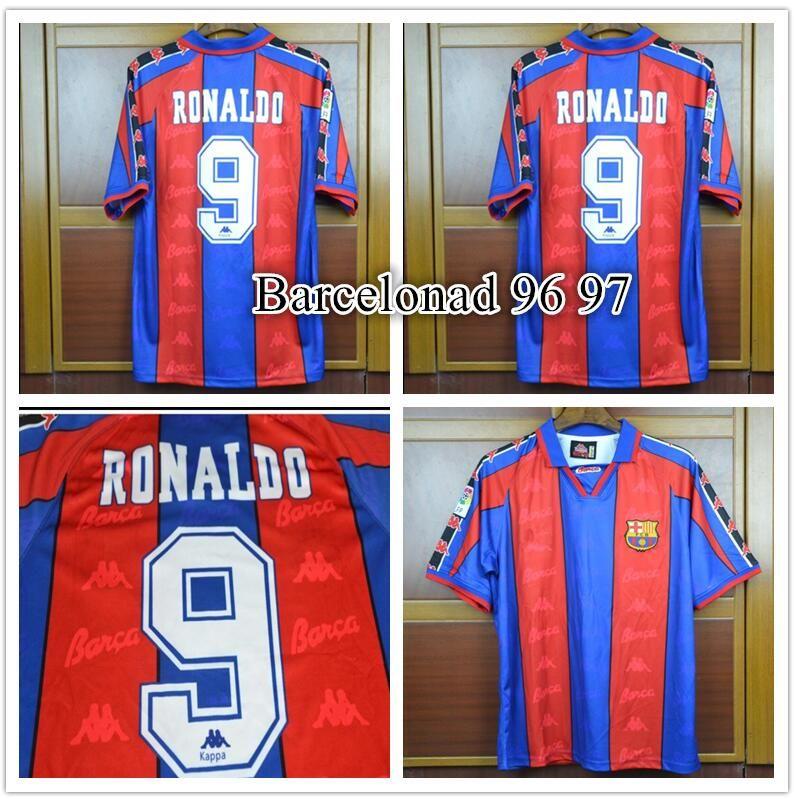363dd3d45d9 2019 Top Barcelonad 96 97 Retro Soccer Jersey Spain RONALDO Football Shirts  1996 1997 From Bestsoccerclub