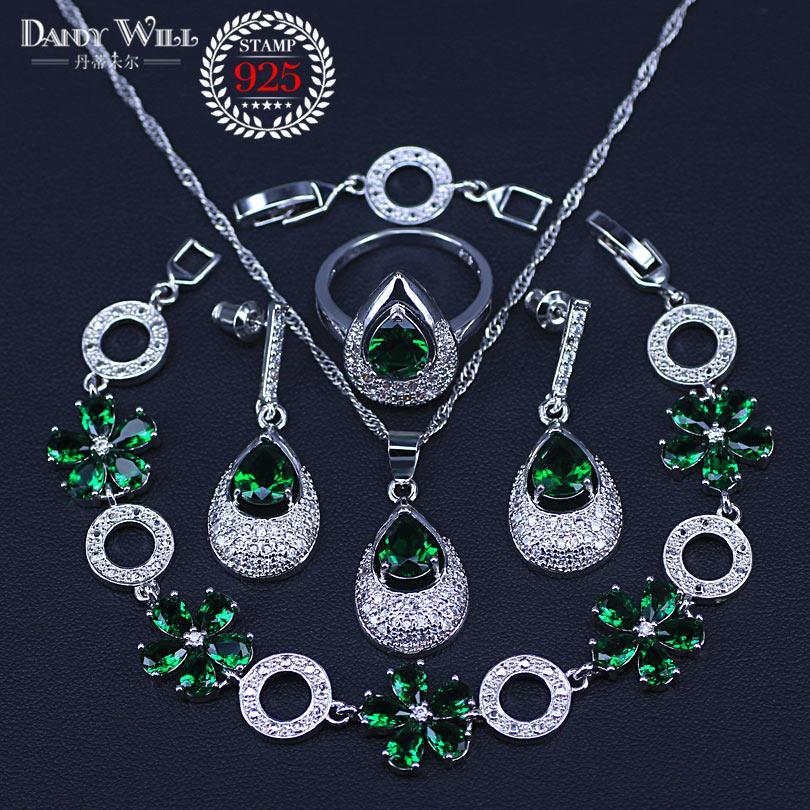 40e99c2cf Cheap Floral Jewelry Sets Wholesale Heart Swarovski Crystal Element Jewelry  Set