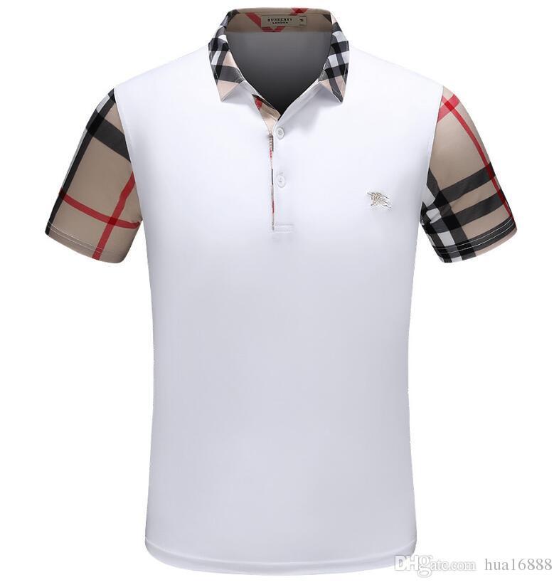 Novas Camisolas de Verão Moda Homem mulheres casuais Polos T-shirt Unisex Ocasional T manga curta marca masculina polo