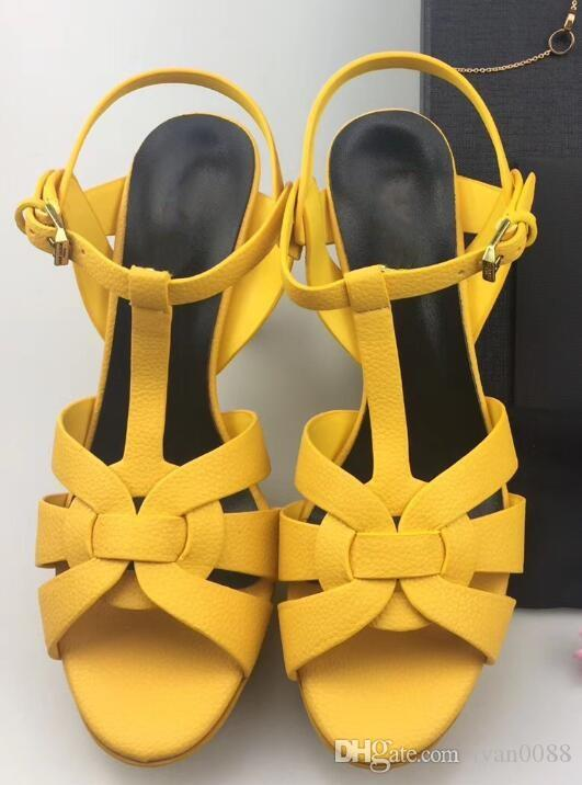 2018 venda quente das mulheres de salto grosso sandálias sapatos de escritório senhora casual sandálias de fundo grosso verde curto saltos meninas moda sapatos pretos 9 # T02