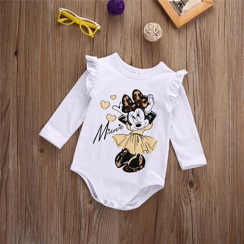 908023159 2019 Xmas White Long Sleeve Baby Girl Bodysuit Jumpsuit Newborn ...