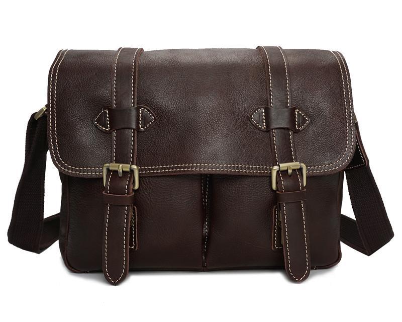 3df82498d2d8 Vintage Genuine Leather DSLR Camera Bag Cow Leather Men Messenger Bags Brown    Dark Coffee Male Shoulder Crossbody Bag  YD8101 Leather Backpack Purse ...