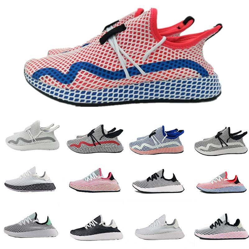 separation shoes 93ded 722aa Compre Deerupt Sneakers Runner Moda Zapatillas Para Correr Para Hombres  Mujeres Run Sport Sneaker Triple S Blanco Rosa Oreo Cheap Primeknit Mesh A   122.85 ...