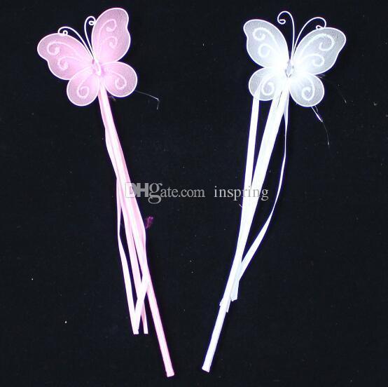 Новые цвета Принцесса бабочка Фея палочка волшебные палочки день рождения благосклонность девушка подарок белый розовый красный желтый