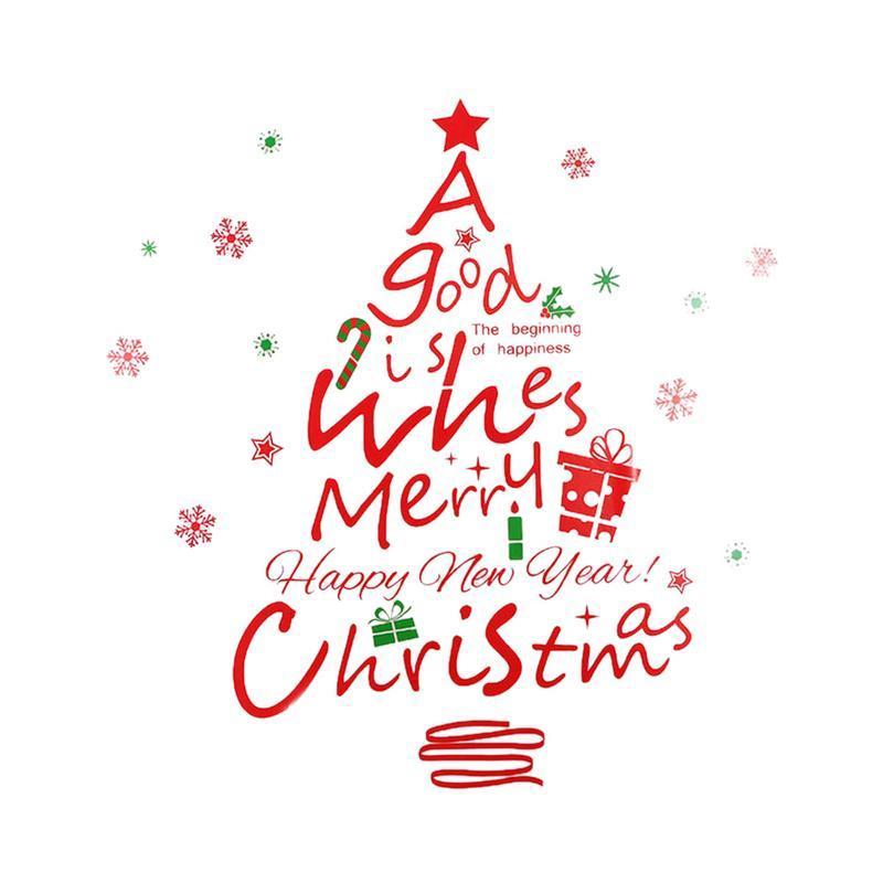 Frohe Weihnachten Aufkleber.Weihnachtsdekoration Aufkleber Abnehmbare Frohe Weihnachten Weihnachtsmann Bäume Schneeflocken Allzweckglas Fenster Aufkleber Decals