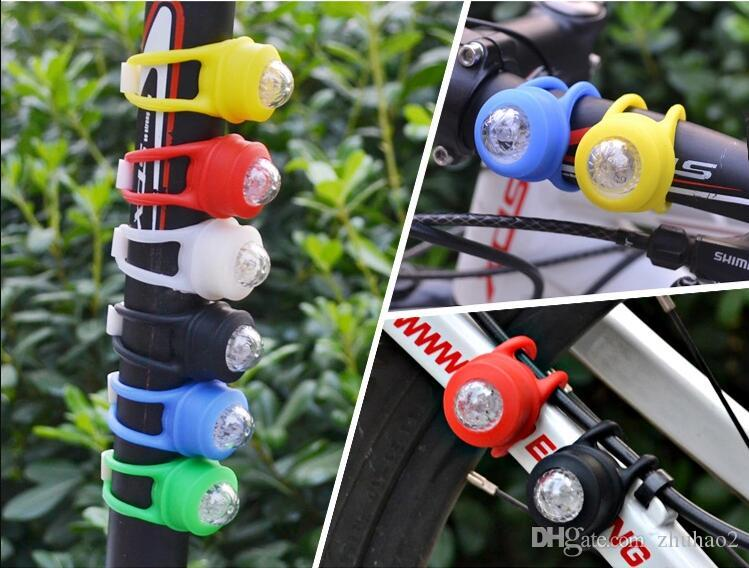 Silicone Bike Bicycle Cycling Head Front Rear Wheel LED Flash Light Lamp Multi