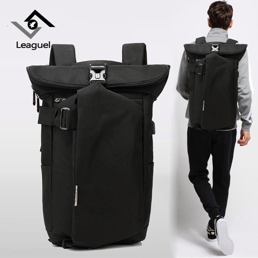 066ef1d505f7 HANTAJANSS Men Multifunction USB Charging Backpacks Casual Tourist ...