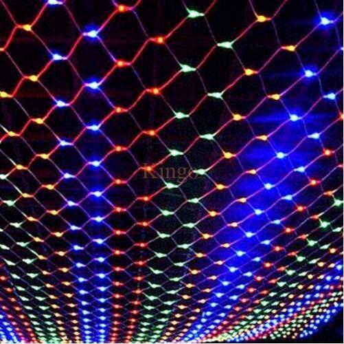 new led net christmas lights 3 x2m 200leds net light outdoor 110v220v useu plug waterproof led net light fast ship string fairy lights large bulb string