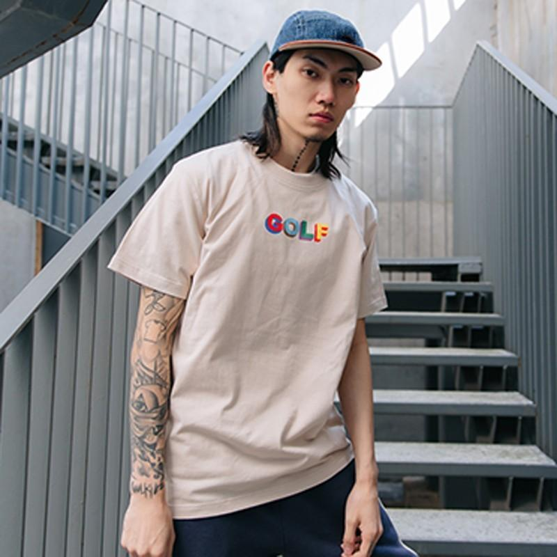 597b298f178c GOLF WANG MULTI COLOR 3D LOGO Tee Luxury Casual Simple Solid Short Sleeve  Men Women Summer Street Skateboard T Shirt HFLSTX260 A T Shirts Fun T Shirts  ...