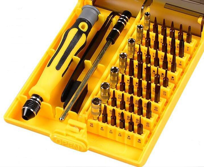 Nouvelle livraison gratuite! 45 en 1 kit tournevis tournevis de précision magnétique multifonction kit de réparation pour cellule i téléphone PSP Xbox 360