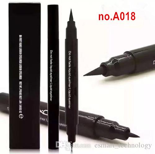A018 M-A & C Brand makeup Highlighter Liquid Eyeliner Double End Eye Liner THICK + THIN 2 IN 1 Kit