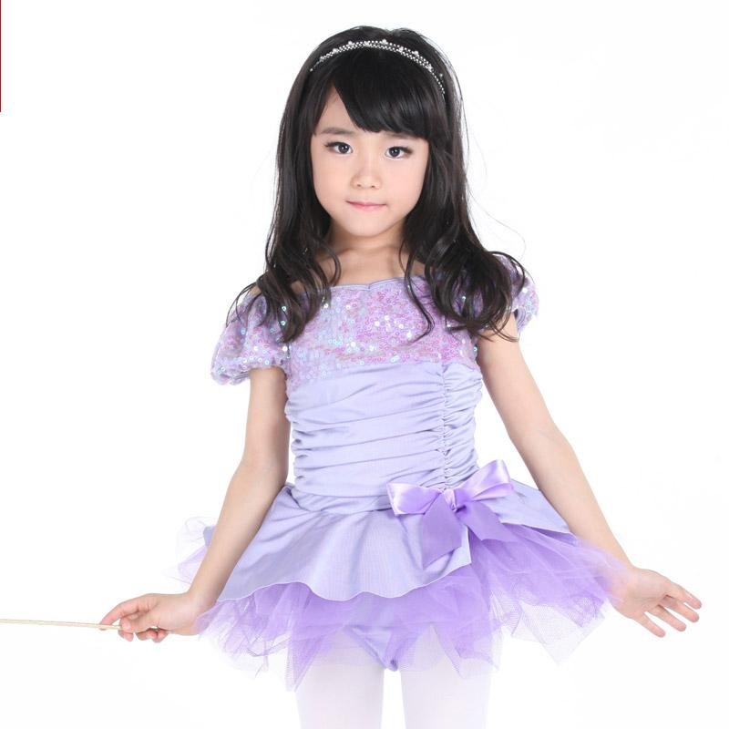 04afb9b76b7c5 Discount Kids Ballet Dress For Girls Puff Sleeve Violet Ballerina ...