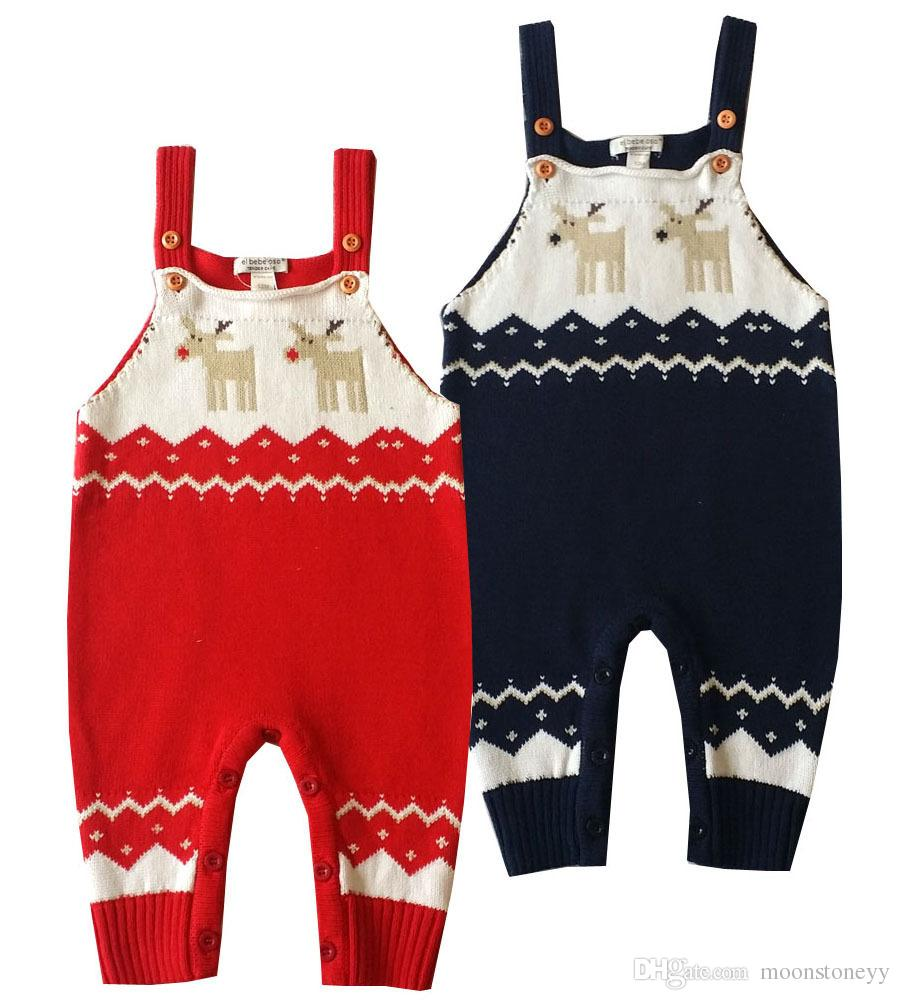 d2ab9eedd Baby Knitting Rompers Cute Sweater Overalls Newborn Baby Clothes ...