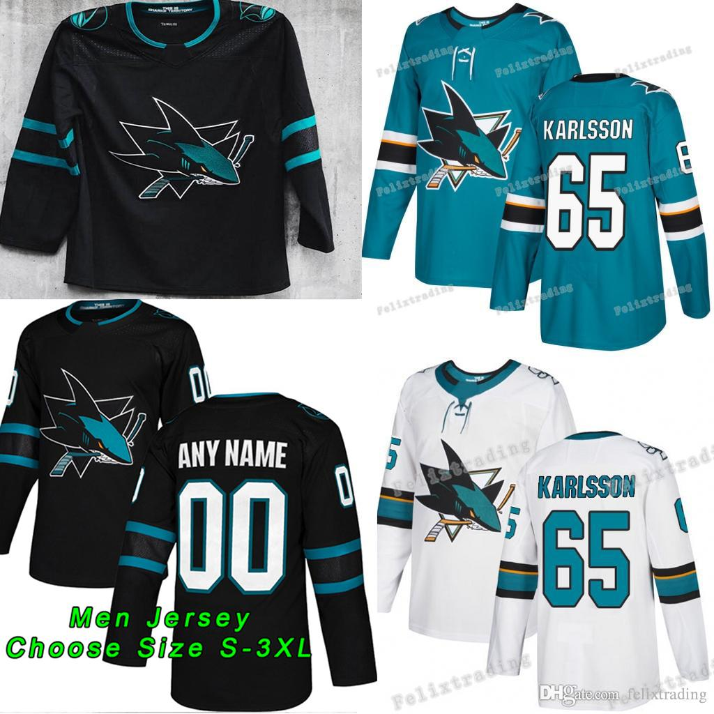 8d4ecae8277 2019 New San Jose Sharks 65 Erik Karlsson Evander Kane Brent Burns ...