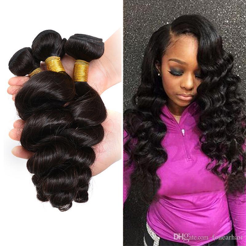 Brazilian Peruvian Chinese Malaysian Virgin Hair Weave Loose Wave