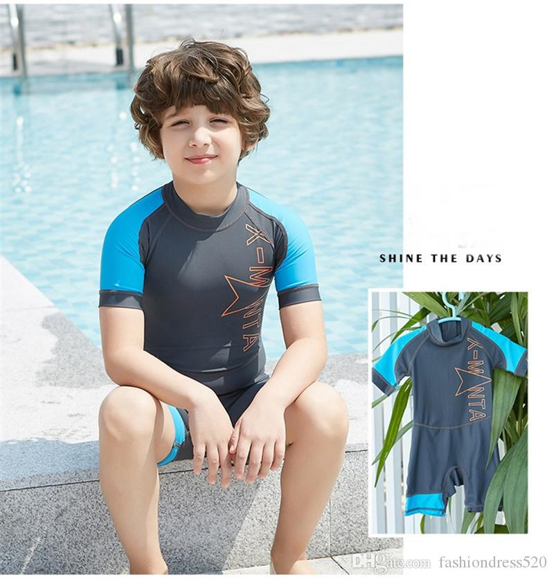 2018 Children Kid Diving Wetsuit Youth Swimwear NEW Child Short Sleeve Swimming Snorkeling Clothing Boys and Girls Kids