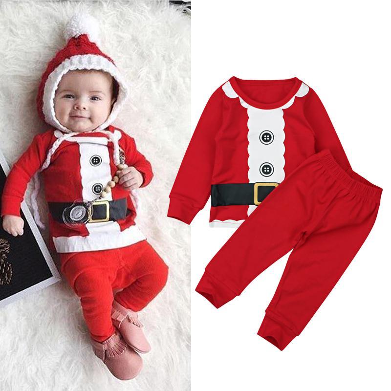 9226b8be01 Rorychen 2018 New 100% Cotton Boys Santa Claus Christmas Pajamas Baby  Sleepwear Baby Kids Night Wears Kids Pyjamas Cheap Kids Pjs Personalised  Kids Pyjamas ...