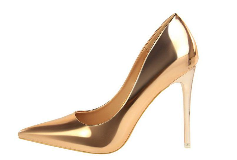 10cm 4 Inch High Thin Heels Pumps Shoes Woman Xf129y Point Toe Gold Silver Wedding Shoes Bride Black Party Office Shoe Deck Shoes Boat Shoes For Men