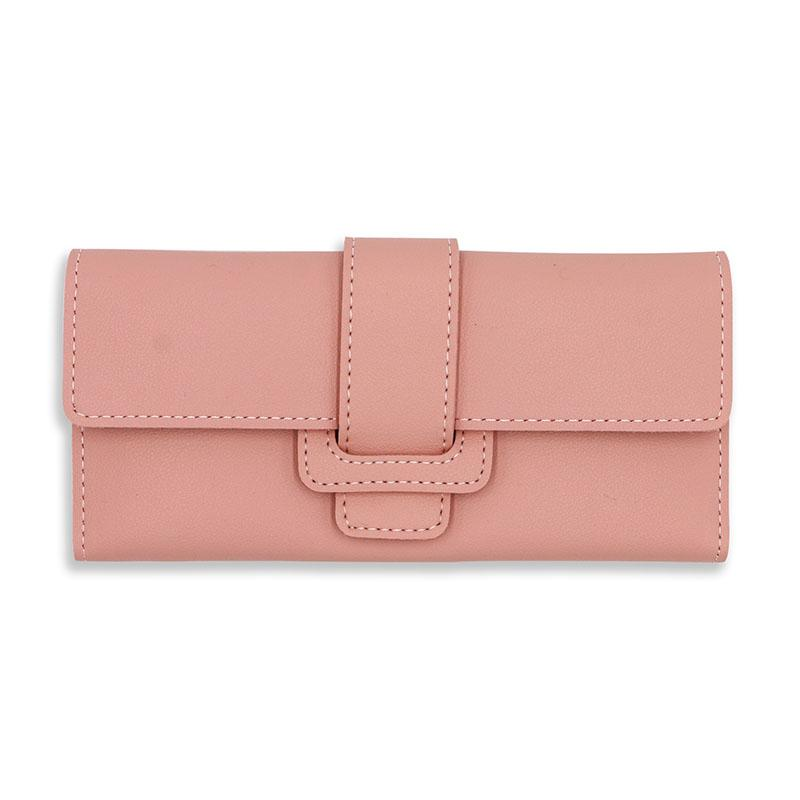 1361725725 Long Pink Leather Women's Wallet Luxury Designer Female Coin Purses Many  Card Holder Money Bag Lady Present
