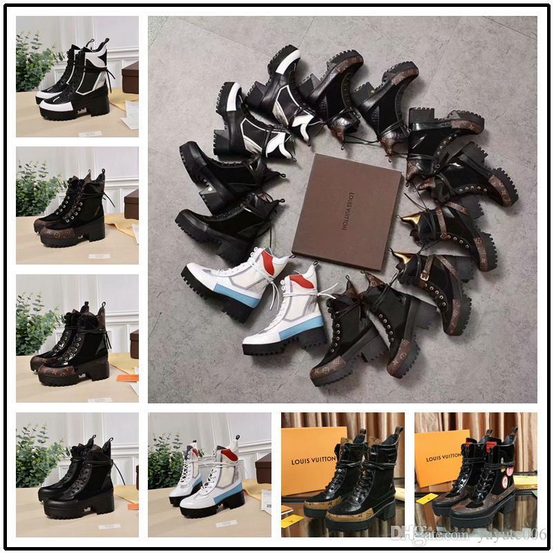 e35b3e1e1777 Laureate Platform Desert Boot 1A4H0N 1A3UWP Iconic Luxury Brand Suede Calf  Leather Technical Nylon Monogram Canvas Trim Martin Boots 0L0V025 Cheap  Boots ...