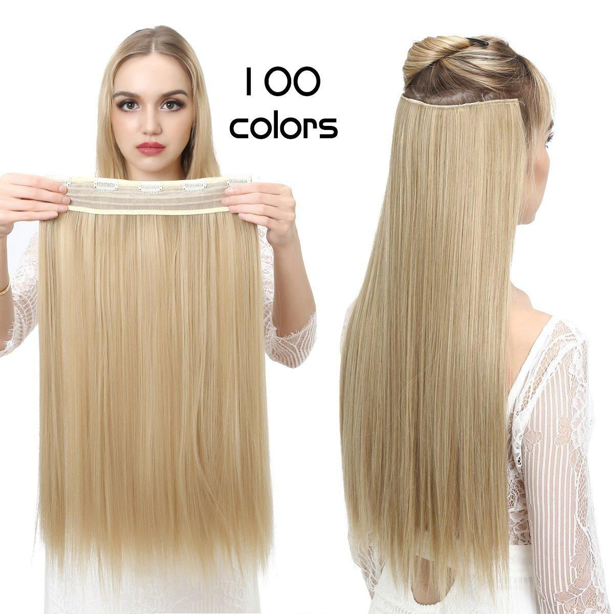 Long Straight Clip In Hair Extension Synthetic Hair Extension Japan