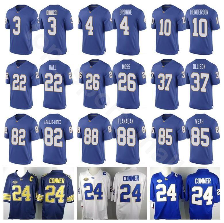 784c2e203 Pittsburgh Panthers Pitt College Football Jerseys 8 Kenny Pickett 3 Damar  Hamlin 5 Tre Tipton 12 Nick Patt 7 Tom Savage Paris Ford UK 2019 From ...