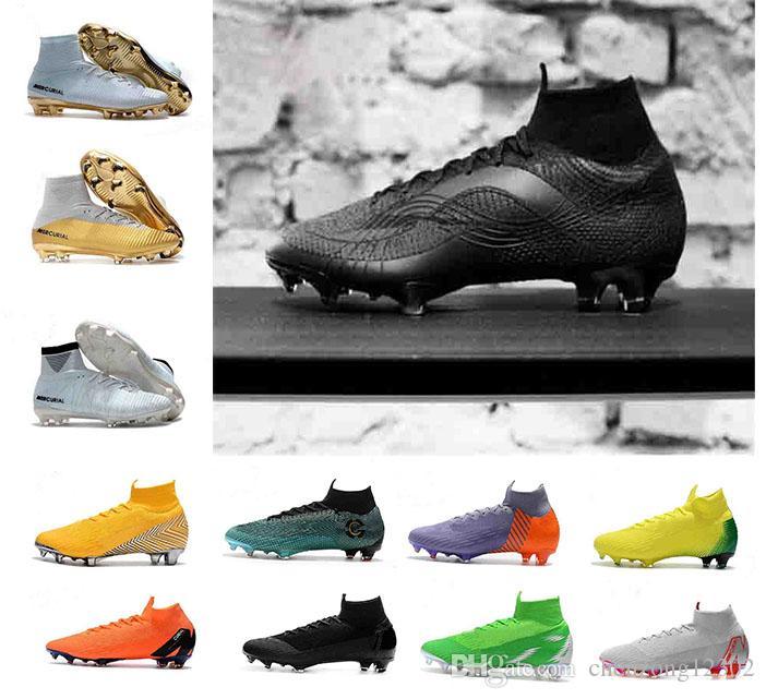 Compre 2018 Hombres Mercurial Superfly VI 360 Elite Tobillo De Fútbol Tacos  De Fútbol Ronaldo FG CR Zapatos De Fútbol Chaussures Zapatos De Fútbol A   80.53 ... 52a33091bb9cb
