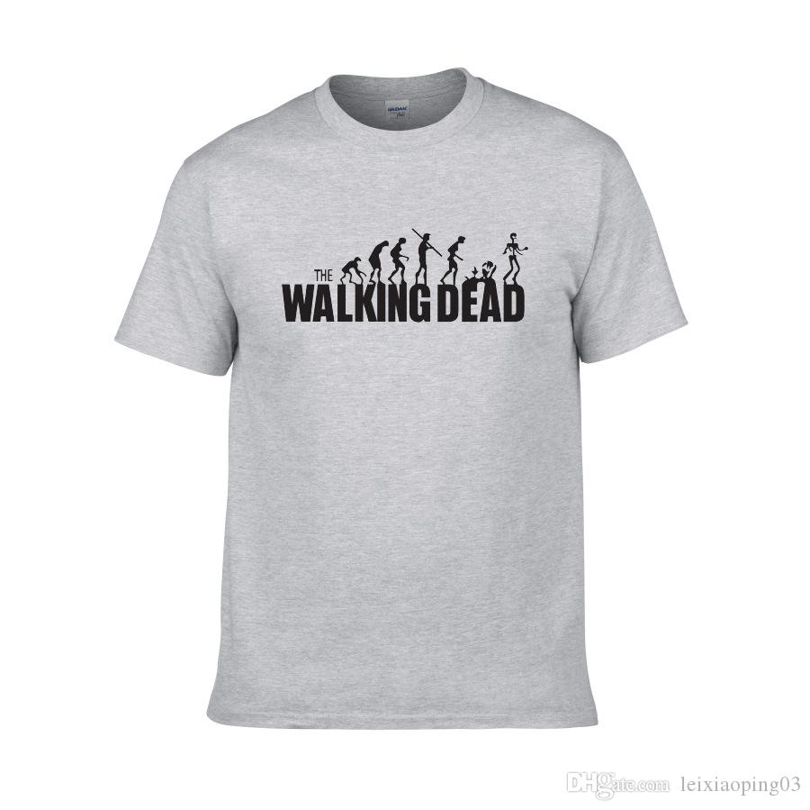 2018 the walking dead T-shirt women's and Men's short sleeve Strange harajuku design casual dark color tops summer